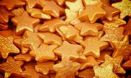 Gouden Sugar Stars Royalty-vrije Stock Afbeelding