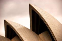 Gouden Sydney operahuis tijdens de manierweek Royalty-vrije Stock Afbeeldingen