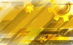 Gouden technologie-achtergrond Stock Foto