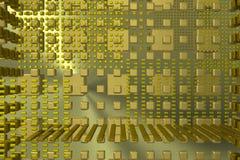 Gouden technologie-achtergrond stock afbeeldingen