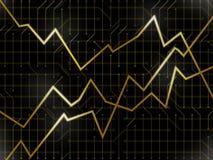 Gouden technologiemarkten Royalty-vrije Stock Foto's