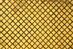 Gouden tegelsachtergrond stock fotografie