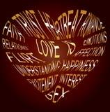 Gouden tekst over welke liefde is Royalty-vrije Stock Afbeeldingen