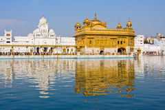 Gouden Tempel in Amritsar, Punjab, India. Stock Fotografie