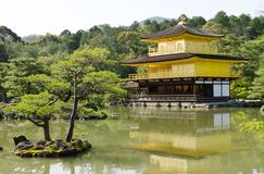 Gouden tempel in Japan Stock Foto