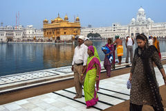 Gouden Tempel van Amritsar - Punjab - India Stock Afbeelding