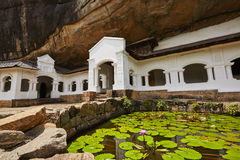 Gouden Tempel van Dambulla stock afbeelding