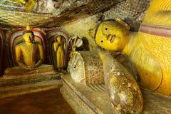 Gouden Tempel van Dambulla, Sri Lanka Stock Afbeeldingen