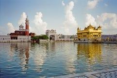 Gouden tempel van de Sikh in Amritsar Stock Afbeeldingen