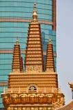 Gouden Tempels Jing een Tempel Shanghai China royalty-vrije stock foto's