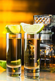 Gouden tequila Stock Foto