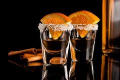 Gouden tequila Royalty-vrije Stock Foto's