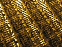Gouden textuur - abstract digitaal geproduceerd beeld Royalty-vrije Stock Afbeelding