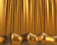Gouden textuur/achtergrond stock illustratie