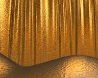 Gouden textuur/achtergrond Stock Fotografie