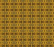 Gouden textuur met herhaalde brief V Stock Foto's