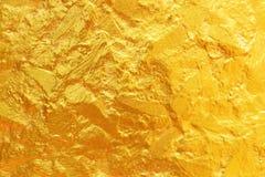 gouden textuur voor achtergrond en ontwerp Stock Afbeeldingen