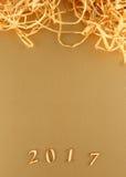Gouden textuur voor Kerstmis, Nieuwjaar 2017 Royalty-vrije Stock Foto