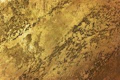Gouden textuurachtergrond Uitstekend goud Stock Foto