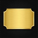 Gouden textuurplaat Stock Foto's