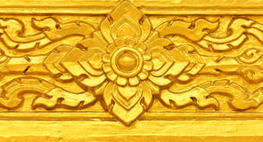 Gouden Thais patroon Royalty-vrije Stock Afbeeldingen