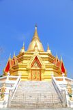 Gouden Thaise pagode Stock Afbeelding