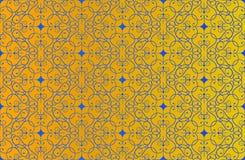 Gouden Thaise uitstekende patroon vectorachtergrond Stock Foto's