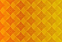 Gouden Thaise uitstekende patroon vectorachtergrond Royalty-vrije Stock Afbeelding