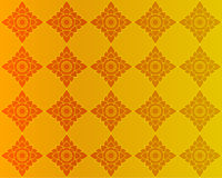 Gouden Thaise uitstekende patroonachtergrond Stock Afbeelding