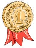 Gouden toekenning Stock Afbeelding