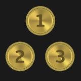 Gouden toekenningsetiketten Stock Afbeelding