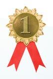 Gouden toekenningslinten Royalty-vrije Stock Afbeeldingen