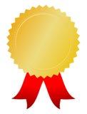 Gouden toekenningsmedaille Royalty-vrije Stock Afbeeldingen