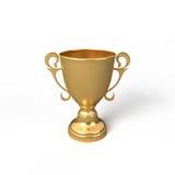 Gouden trofee Royalty-vrije Illustratie