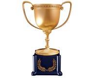 Gouden trofee Stock Foto