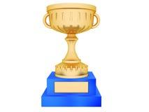 Gouden trofee stock illustratie