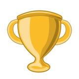 Gouden trofee geïsoleerde illustratie Royalty-vrije Stock Foto's