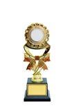 Gouden Trofee met het knippen van weg Royalty-vrije Stock Afbeelding