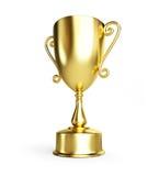 Gouden trofeekop Stock Afbeelding