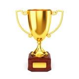 Gouden trofeekop Royalty-vrije Stock Afbeelding
