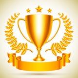 Gouden trofeekop Royalty-vrije Stock Foto's