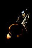 Gouden trompet Royalty-vrije Stock Afbeeldingen