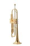 Gouden trompet royalty-vrije stock foto