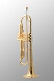 Gouden trompet stock foto's