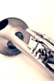 Gouden trompet royalty-vrije stock afbeelding