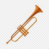 Gouden trompetpictogram, beeldverhaalstijl vector illustratie