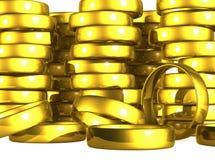 Gouden Trouwringen. Stock Foto's