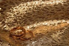 Gouden trouwringen Stock Fotografie