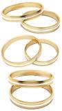 Gouden trouwringen Royalty-vrije Stock Afbeelding