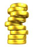 Gouden Trouwringen, het Knippen Weg. Royalty-vrije Stock Foto's